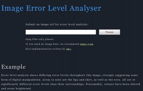 Image Error Level Analysis