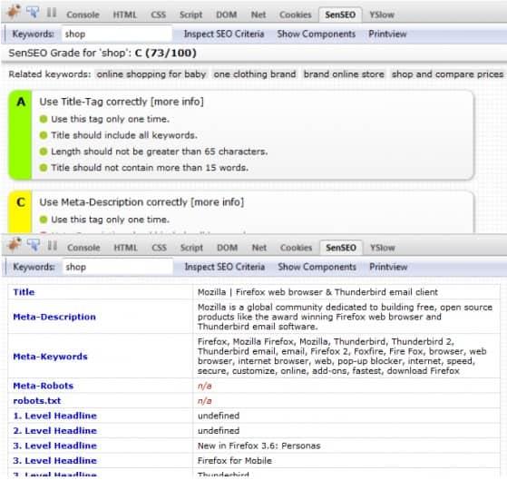 sen seo extension Firefox