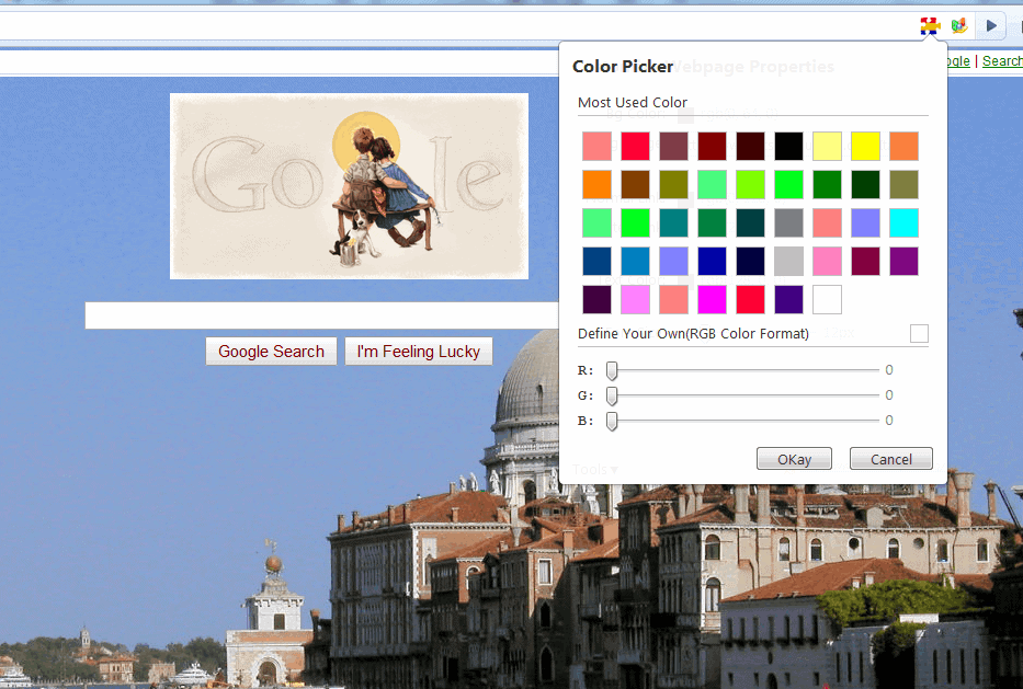 website color
