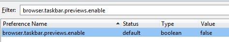 browser taskbar preview enable