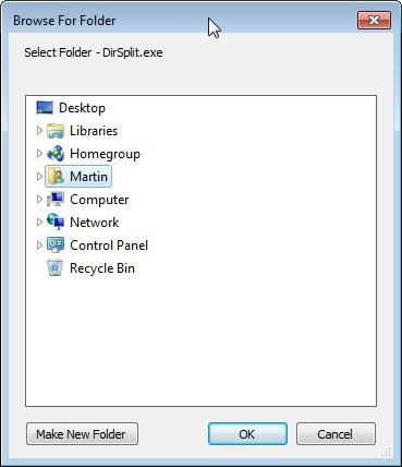 dirsplit folder