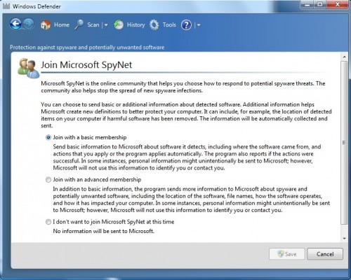 How To Disable Microsoft SpyNet In Windows 7