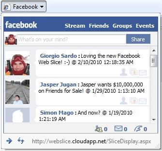 Facebook Updates In Internet Explorer