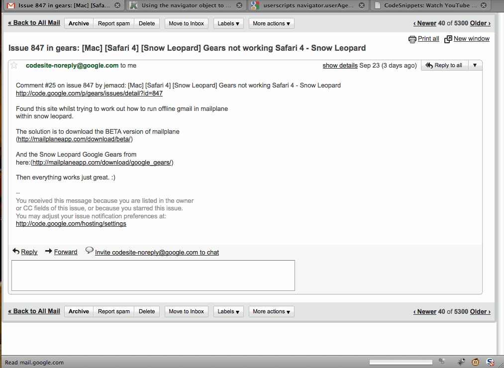 gmail netbook optimized