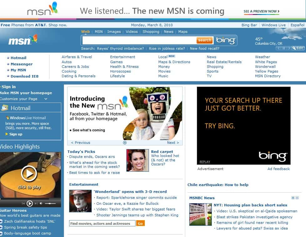 How To Access The Old MSN Website