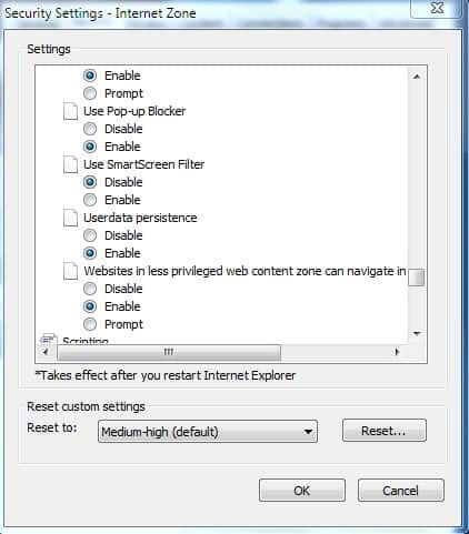 How To Disable The SmartScreen Filter In Internet Explorer