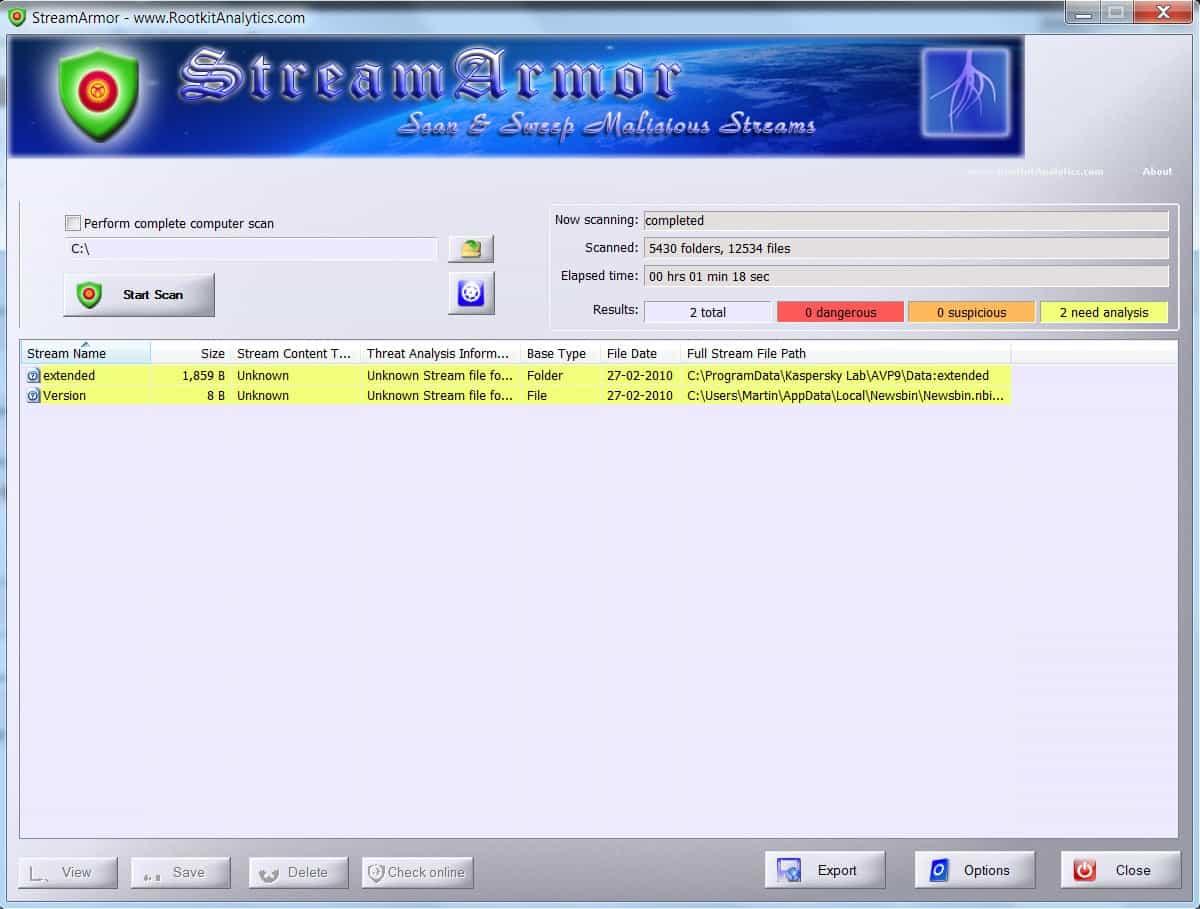streamarmor alternate data streams