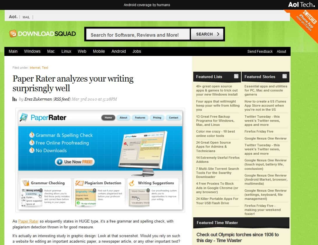 regular website