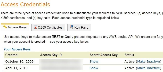 access credentials