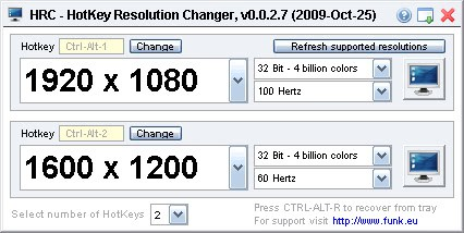 computer hotkey resolution