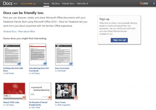 Microsoft And Facebook Launch Docs.com