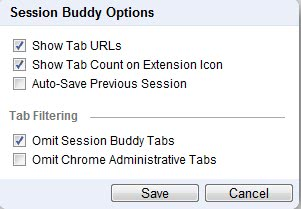 Manage Google Chrome Sessions With Session Buddy