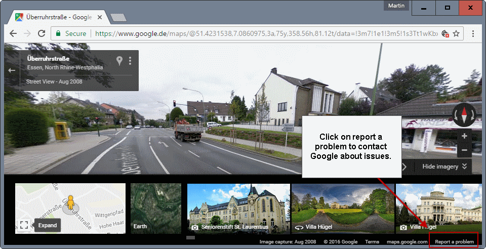 street view report a problem