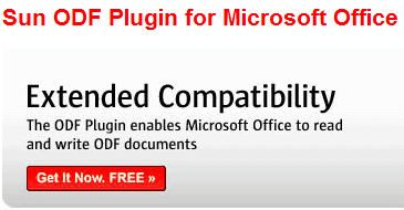 Sun ODF Plugin For Microsoft Office No Longer Free