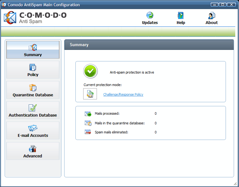 comodo anti spam software