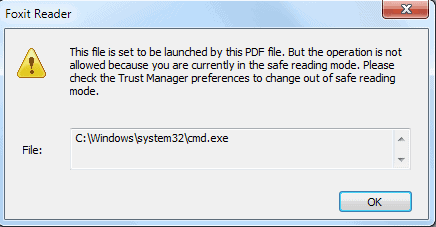 foxit reader secure trust manager
