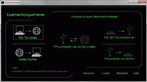 game save configuration synchronizer
