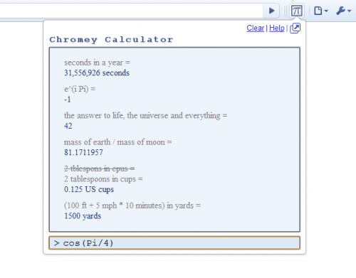 google chrome calculator