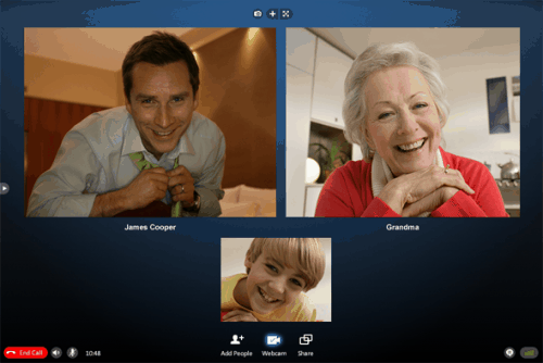 skype 5 group video call