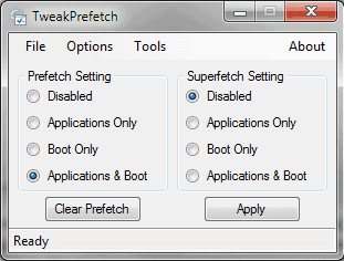 tweak prefetch superfetch