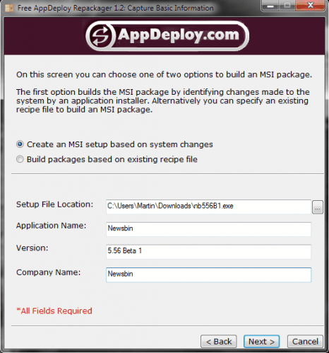 appdeploy repackager