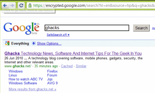 encrypted google com