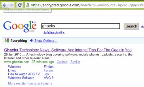 encrypted google com