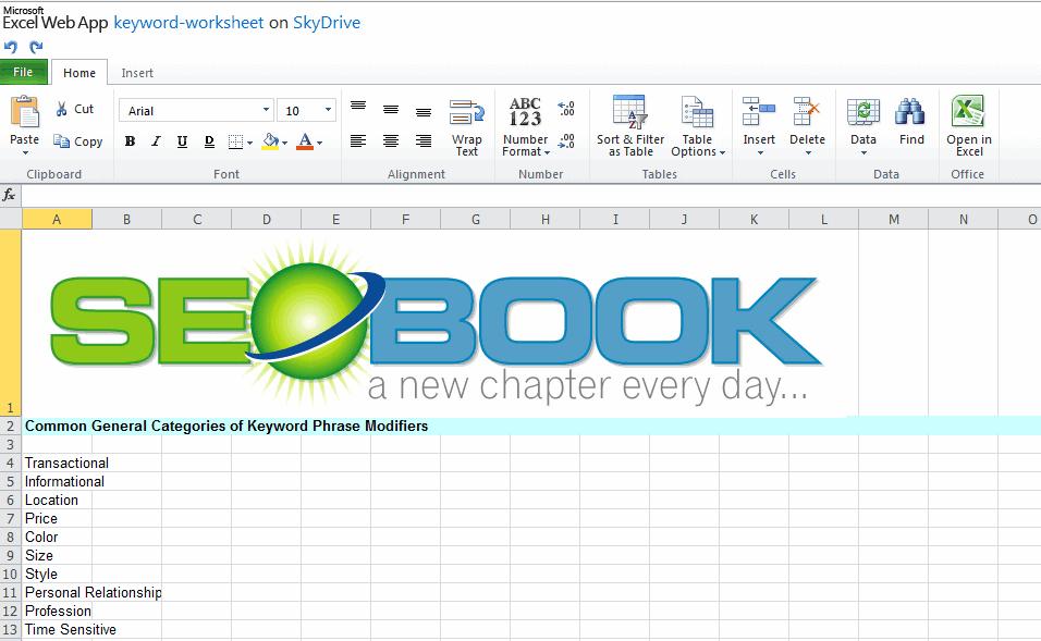excel document online
