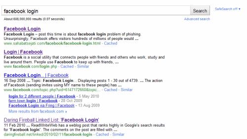 Facebook Login Ranking Problems Return In Google Search Ghacks