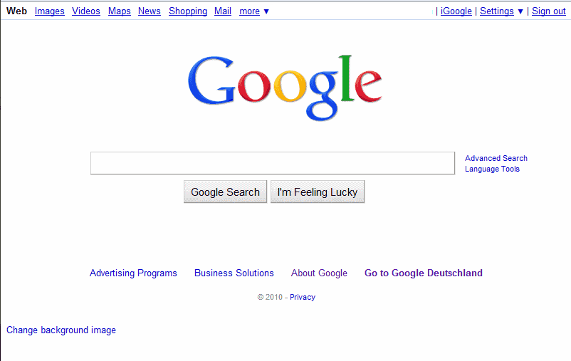 How To Change The Google Search Background Image - gHacks ...