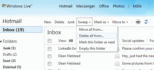 hotmail Sweep