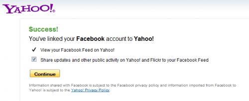link facebook yahoo