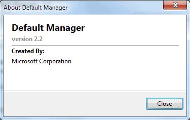 microsoft default manager 22