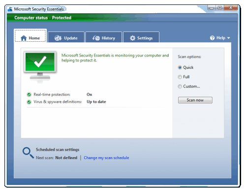 Microsoft security essentials definition update fails.