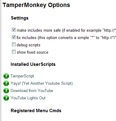 tampermonkey options
