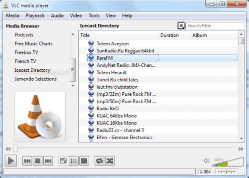 vlc media player icecast