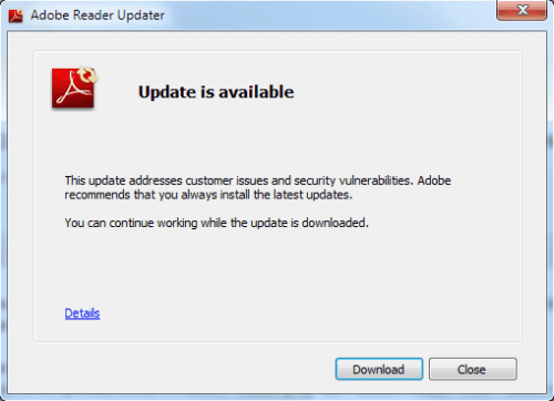 adobe reader updates for windows 7