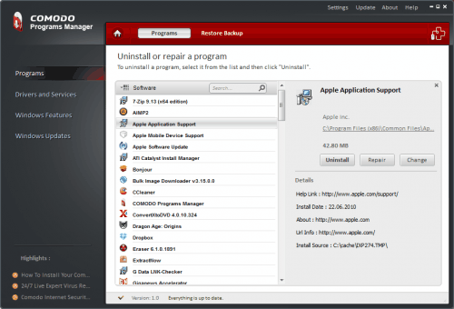comodo program manager