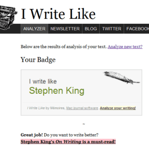 Check Which Famous Writer You Write Like