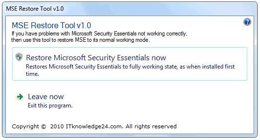 mse restore tool