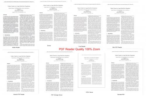 pdf reader quality
