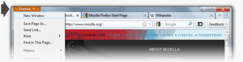 screen firefox button