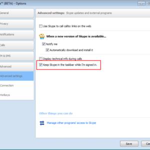 skype windows taskbar