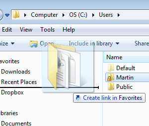 How To Add Folders To Windows Explorer Favorites In Windows 7