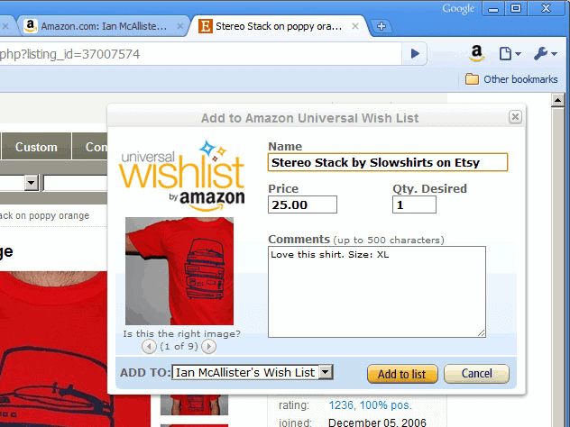 amazon whishlist