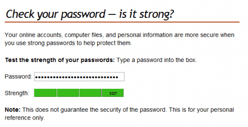 check your password