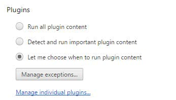 chrome plugin content