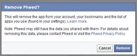 facebook remove apps