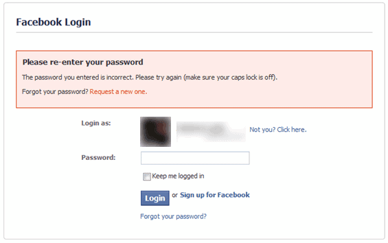 facebook login privacy