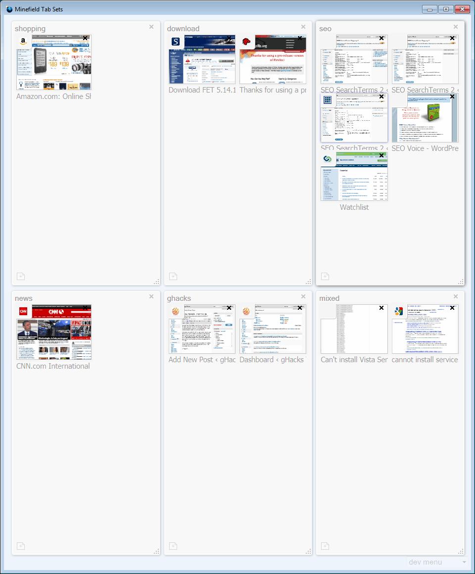 Firefox Tab Sets, What They Do - gHacks Tech News